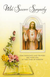 Sacred Heart of Jesus Sincere Mass Card.