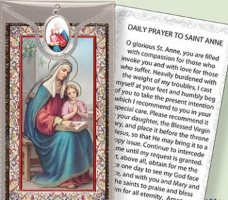 St.Anne Medal and Prayer Card.