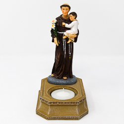 Saint Anthony Statue Candleholder.