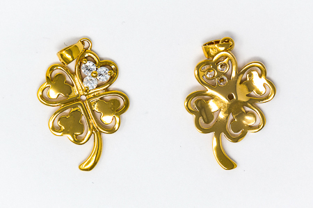 Four-Leaf Clover Gold Pendant.