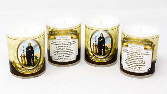 Saint Peregrine Votive Candle.