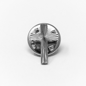 Silver Engraved Cross Pin.