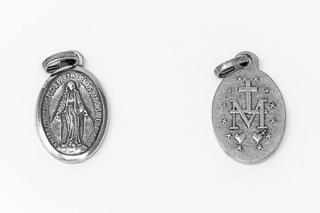 Silver Miraculous Medal.