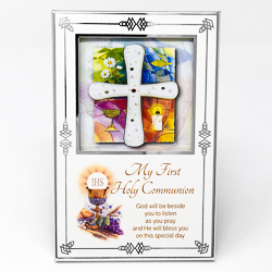 Silver Plated Communion Photo Frame.