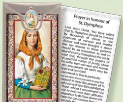 St.Dymphna Medal and Prayer Card.