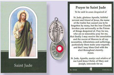 Prayer Booklet to St Jude with Relic Medal.