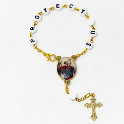 Single Decade St Christopher Car Rosary.