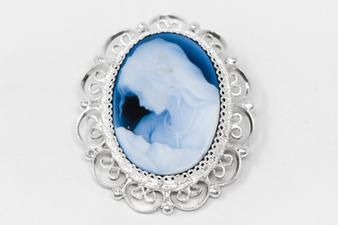 925 Mother and Child Cameo Pendant.