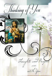 Jesus the Good Shepherd - Thinking of you Card.