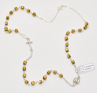 Topaz Rosary Necklace
