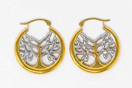 Tree of Life Earrings,�9ct Gold.