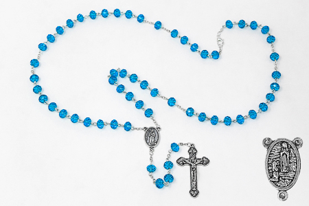 Turquoise Crystal Rosary.