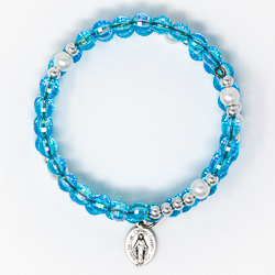 Turquoise Memory Wire Rosary Bracelet