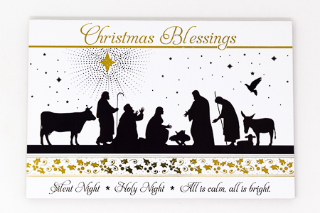 Christmas Blessing Wood Post A Plaque .