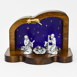 Wooden Nativity Scene.