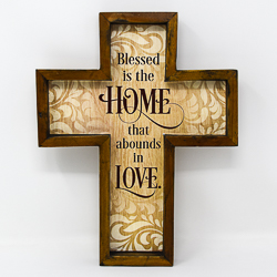 Wall Cross - Blessed is the Home.
